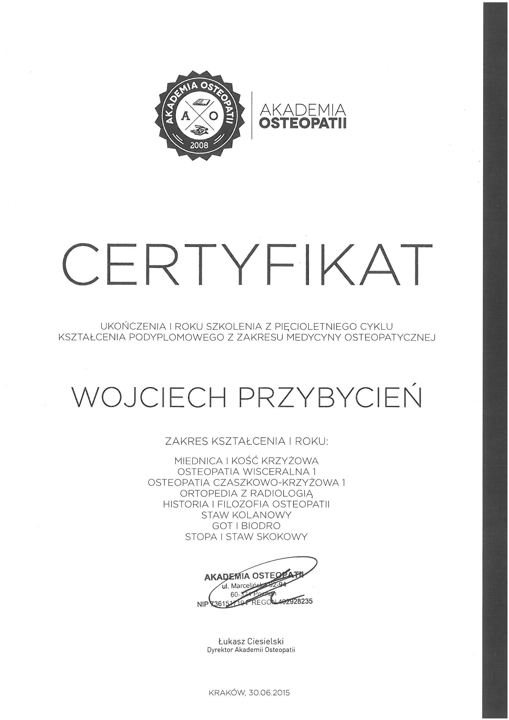 Akademia Osteopatii rok II